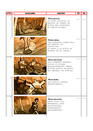 English: Technical Script with storyboard Espa...
