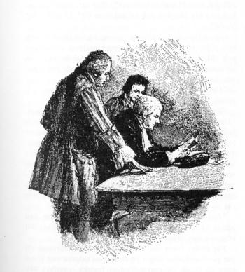 de: Doktor Livesey und Squire Trelawney unters...