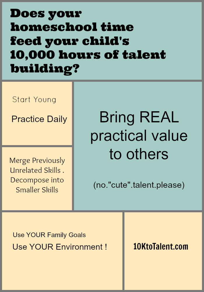 How to feed your child's 10,000 hours of talent