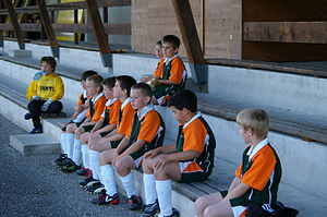 English: Young soccer team (Union Geretsberg)....