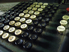 adding machine (d)