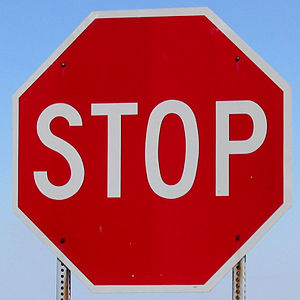 Stop sign in the United States