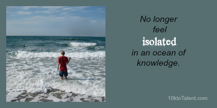 isolated ocean of knowledge